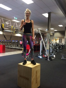 Connie conquering the Box jump!!